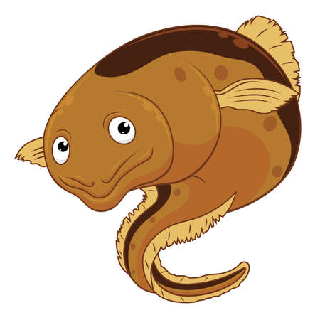 Cartoon cheerful eel Vecteurs