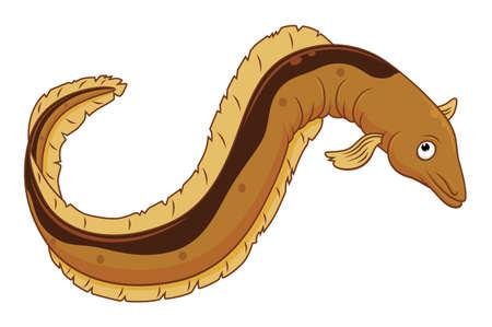 Poisson anguille de dessin animé