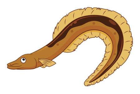 Belle anguille de dessin animé Vecteurs