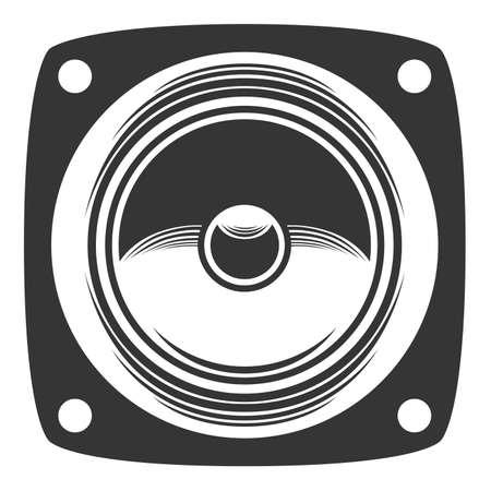 Monochrome gray loudspeaker