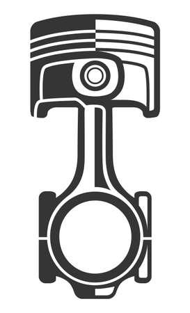 Monochrome motor piston, part of car engine