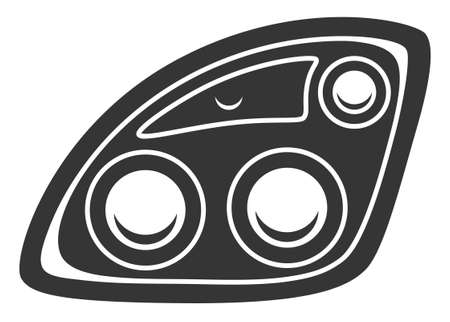 Beautiful monochrome headlight symbol