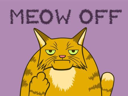 Cartoon gloomy cat
