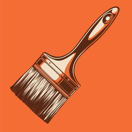 High contrast paintbrush colored illustration Ilustracja