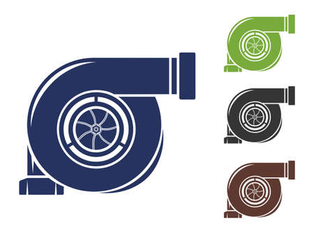 Car engine turbine icon vector illustration