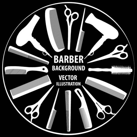 Background for barber and hairdresser.