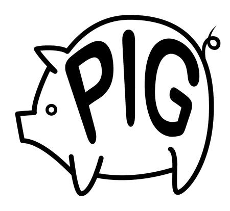 laconic: Big pig background.
