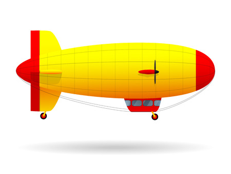 Airship. Air passenger transport. Vector illustration.