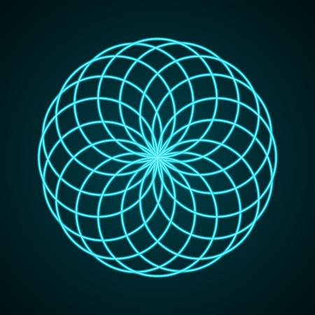 chakra energy: Sacred Geometry. Symbol of Harmony. Vector illustration