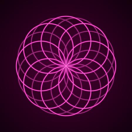 kundalini: Sacred Geometry. Symbol of Harmony. Vector illustration