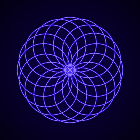 Sacred Geometry. Symbol of Harmony. Vector illustration