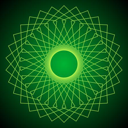spiritual energy: Flower of Life. Sacred Geometry. Abstract geometric pattern. Vector.
