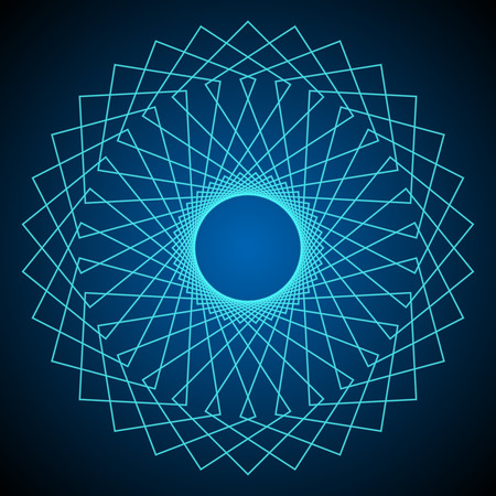 solids: Flower of Life. Sacred Geometry. Abstract geometric pattern. Vector.