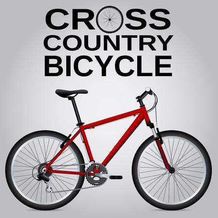 velocipede: Cross-country bike. Illustration