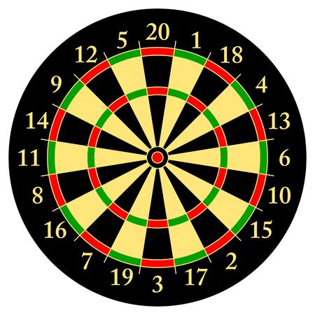 dart board: Darts. Target for darts Vector illustration