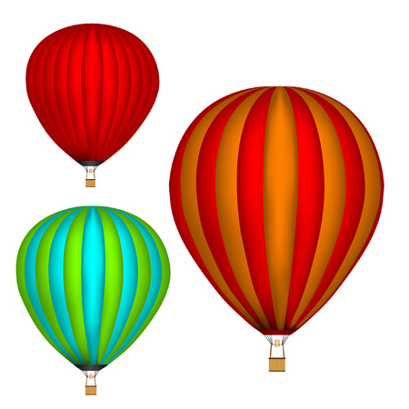 Aerostat . White background. Isolated objects. Colored picture. Vector Image.