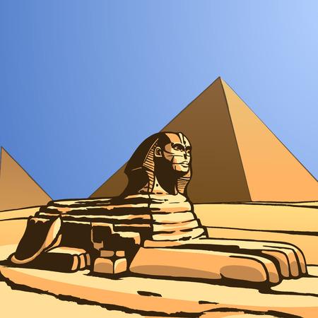 Sphinx. Ancient statue Vector Image