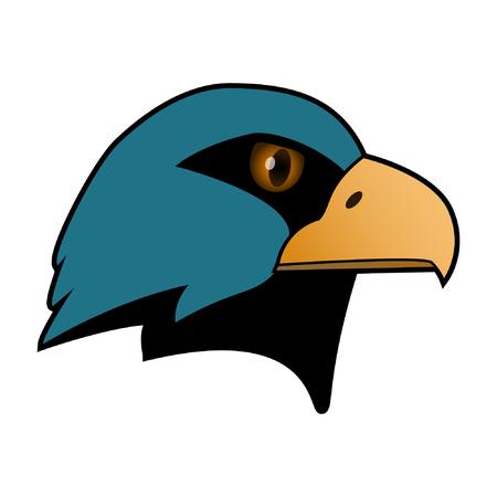 Eagle. The head of a bird of prey. Illustration