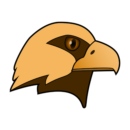 Eagle. The head of a bird of prey. Illustration
