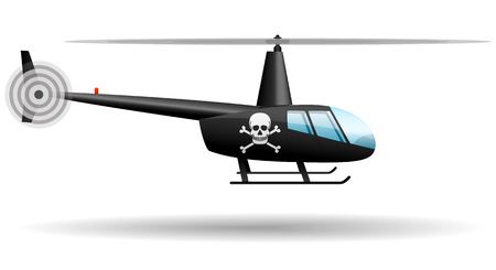Black pirate helicopter.