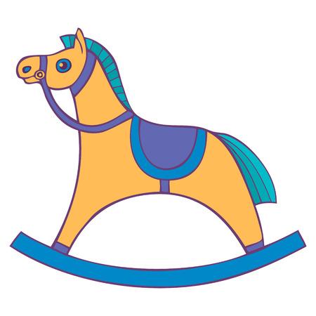 stirrup: Children s rocking chair. Horse for small children. rocking horse. Vector illustration Illustration