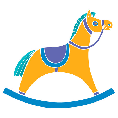 Children s rocking chair. Horse for small children. rocking horse. Vector illustration Illustration