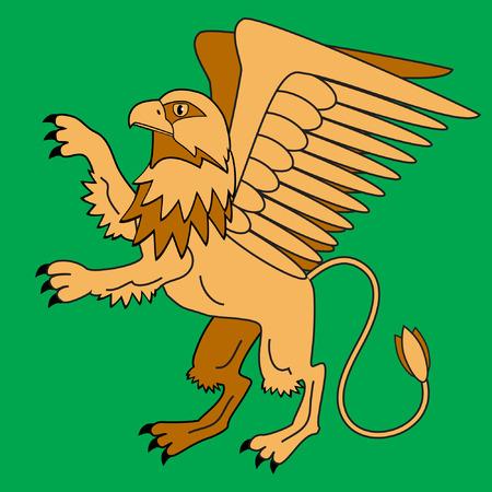 Griffin, mythological creatures. Illustration