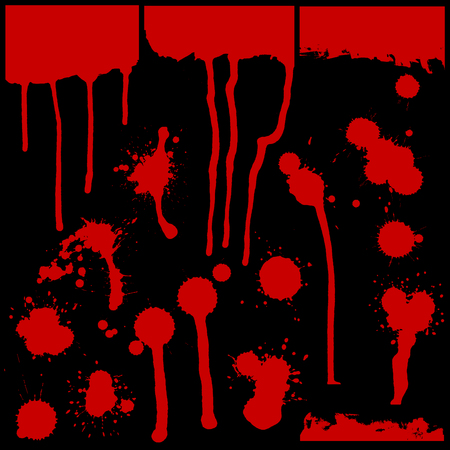 set of red blots. various shapes. Vector illustration Illustration