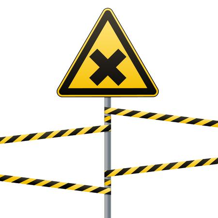 Safety sign illustration. Illustration