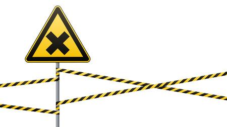 Safety sign Vector illustration