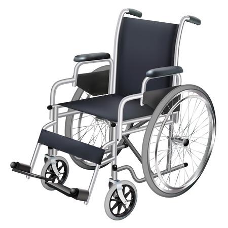 Wheelchair isolated object illustration. Illustration