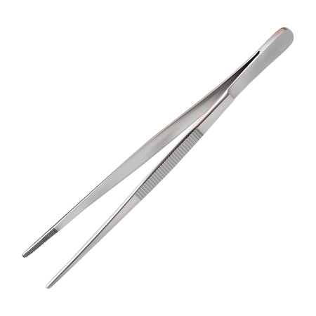 Dissecting Forceps for use in surgical procedures to hold delicate tissues during suturing used to tie sutures at the end of the procedure and hold dressings. Isolated object Vector illustration. Ilustrace