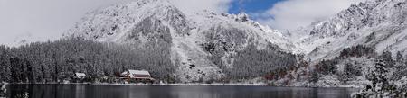 Popradske Pleso. Tatransky narodny park. Vysoke Tatry. Slovakia. Фото со стока