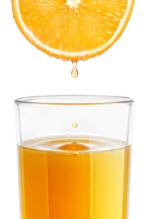 freshly: A glass of freshly squeezed orange juice