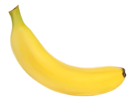 banana skin: banana over white background