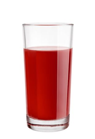 sour cherry: Sour cherry juice in a glass  Stock Photo