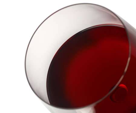 Close-up of red wine and glass photo