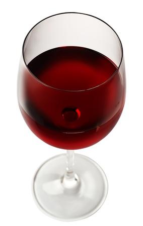 round glasses: copa de vino rojo aislado sobre fondo blanco
