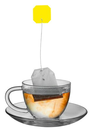 Cup of tea with teabag  photo