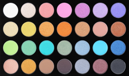 Make-up, colorful eye shadows palette Stock Photo