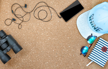 Items for the beach, the view from the top Stock Photo
