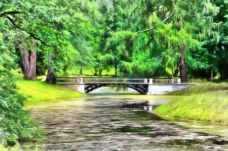 The first metal bridge on the European continent Banco de Imagens