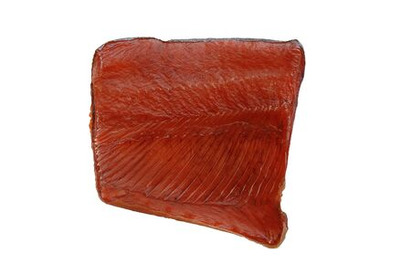 A slice of appetizing red fish beer snack
