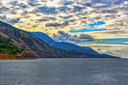Magnificent summer landscape on the Black Sea 写真素材