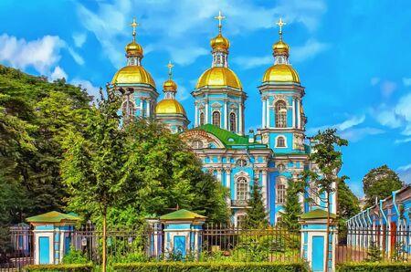 Saint Nicolas Naval Cathedral in St. Petersburg