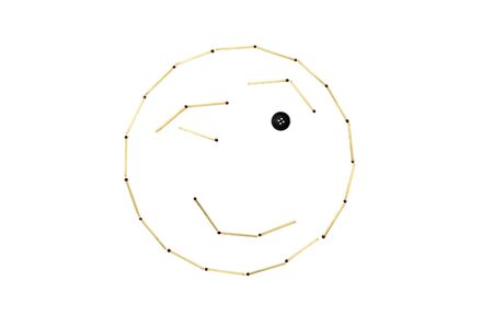 Smiley face friendliness is made out of matches Banco de Imagens
