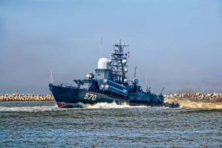 Russian military boat in the Baltic Sea Stock fotó