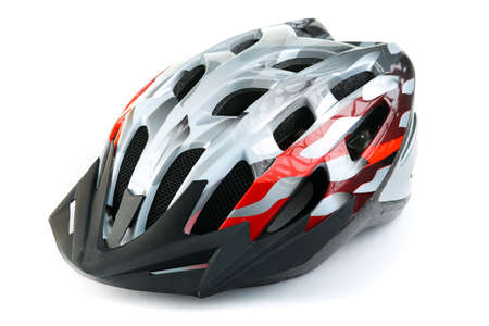 MTB mountain bike helmet, isolated on white background