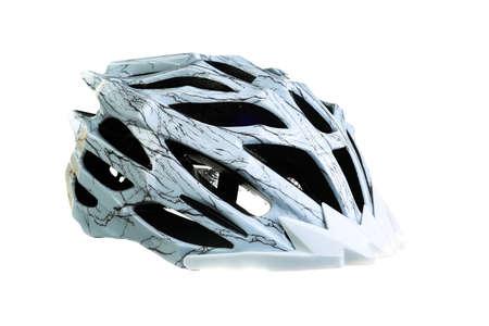 foam safe: MTB mountain bike helmet, isolated on white background