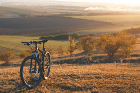 Sunrise, sunset, Cycling around the world Is a journey to freedom.